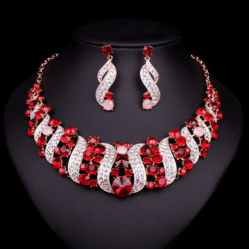 Hesiod Indian Wedding Jewelry Sets Gold Color Full Crystal: Best 25+ Indian Jewelry Sets Ideas On Pinterest