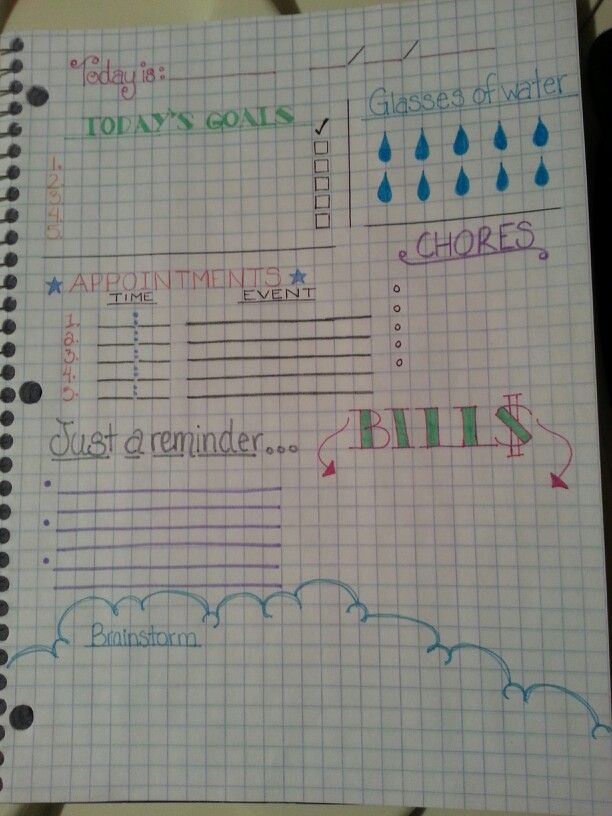 DIY Daily Planner Page