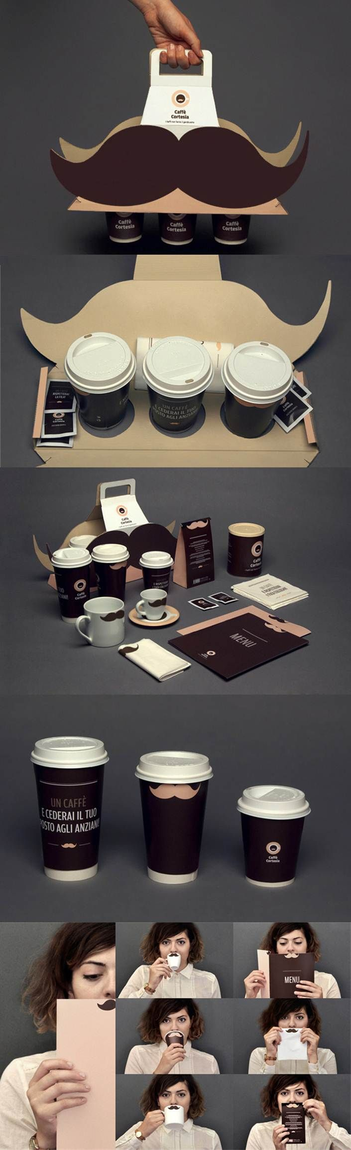 Designed by Augusto Arduini, a graduate of Politecnico di Milano, Italy. http://www.packagingoftheworld.com/2011/10/caffe-cortesia.html