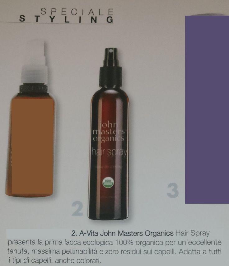 Nuovo numero della rivista Salon International e nuova uscita per la Hair Spray di John Masters Organics! Eh sì, ormai la conoscono tutti, perchè è la prima lacca ecologica e 100% organica, per spruzzare sui capelli solo il benessere della Natura!