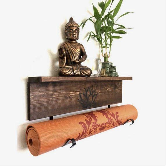 Tranquil turquoise yoga mat holder
