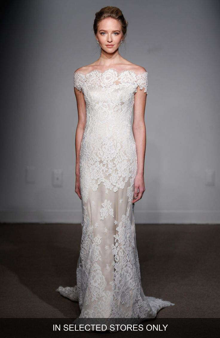 Buy ANNA MAIER COUTURE Gabrielle Off-the-Shoulder Corded Lace Gown online. [$5400]?@ 1newuspro