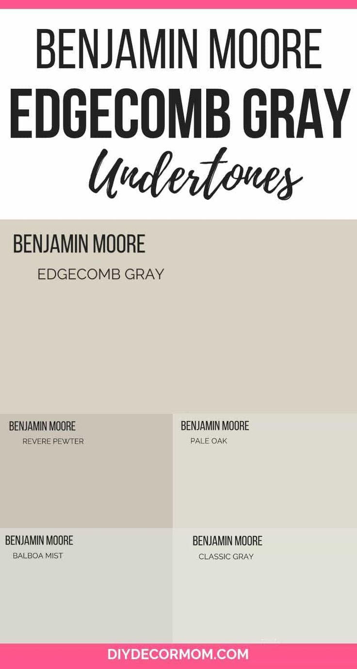 Edgecomb Gray The Perfect Greige Paint Color Colors Benjamin Moore