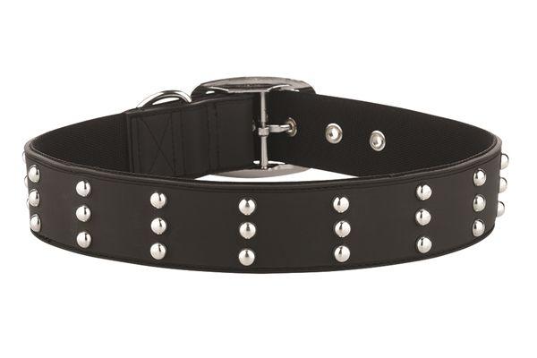 Gummi Pets Dog Collar Black w/ Stud Non-toxic rubber NEW