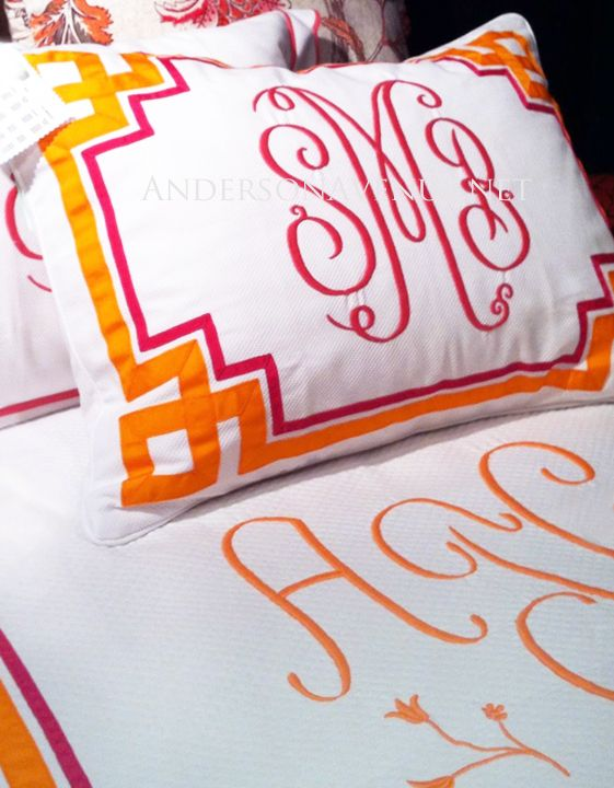 11 Best Images About Monogrammed Bedding On Pinterest