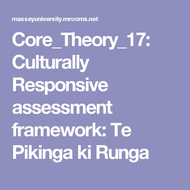 Culturally Responsive assessment framework: Te Pikinga ki Runga This is to help me with my work in Māori immersion  kura. It is a Māori kaupapa framework