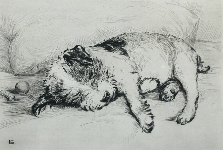 """""""Played Out"""" ~ Drypoint Etching by British Artist  Lucy Dawson (1874-1954) ...."""