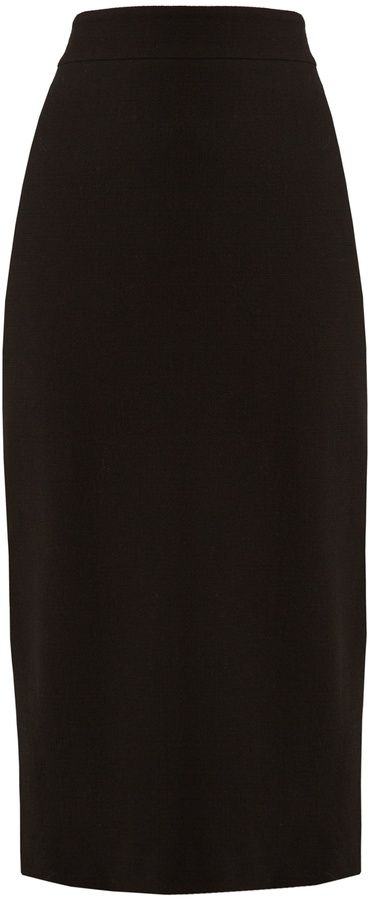 CARL KAPP Infinity high-rise wool midi pencil skirt