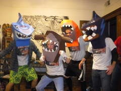 Street Sharks - DIY: Street Sharks, Halloween Costumes, My Boys, Tape Sculpture, Diy Sharks, Costumes Pictures, Sharks Costumes, Sharks Week, Fun Kids Crafts