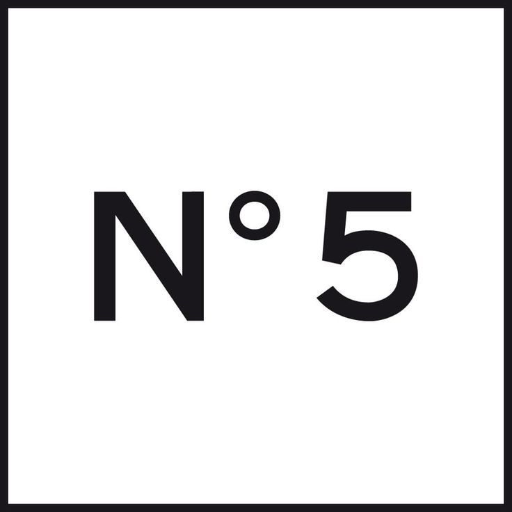 Logo With Numbers Chanel Number 5 Black And White No