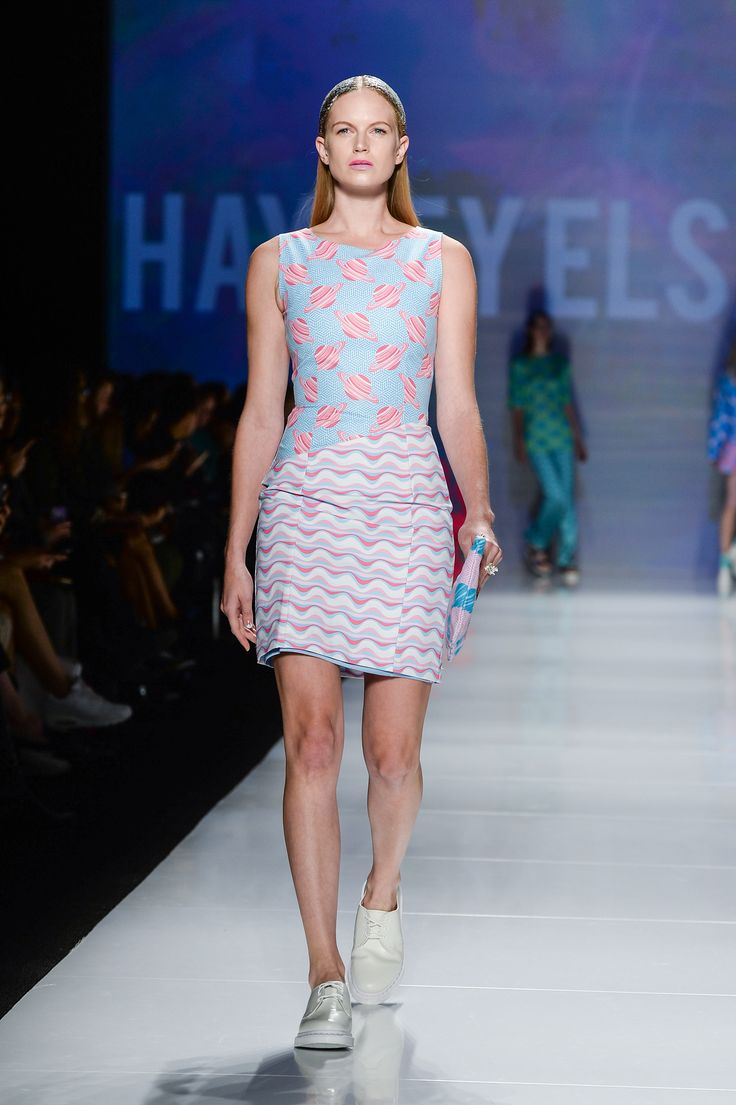 Models on the runway at World Mastercard Fashion Week Toronto