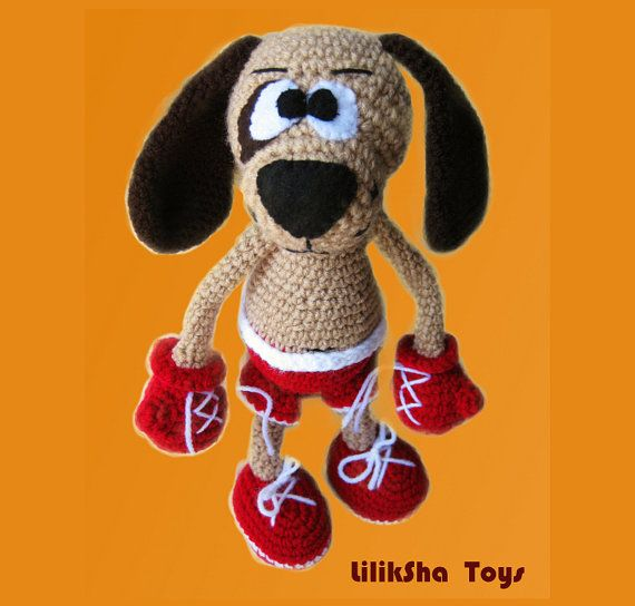 Amigurumi Boxer Dog : Amigurumi Pattern The Boxer by LilikSha on Etsy, USD4.00 ...