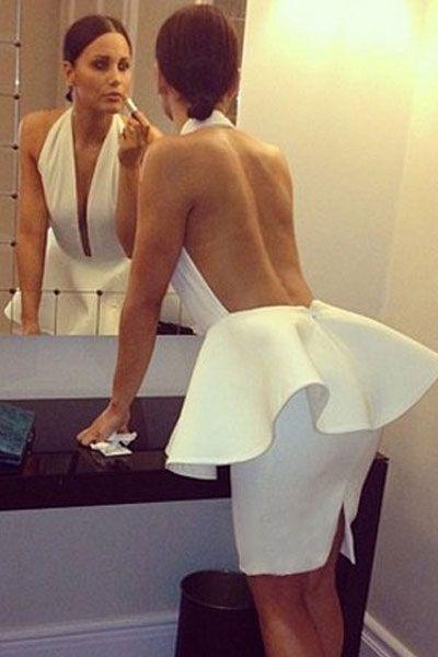 V Neck Off The Shoulder dress