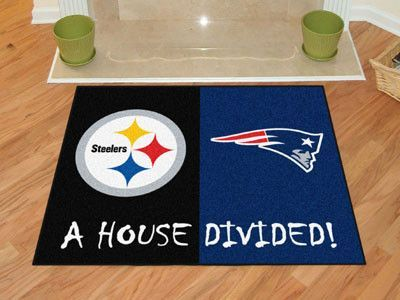Big rivalries call for big FANMATS. Made in U.S.A. 100% nylon carpet and non-skid recycled vinyl backing. Machine washable. Officially licensed. Chromojet printed in true team colors.