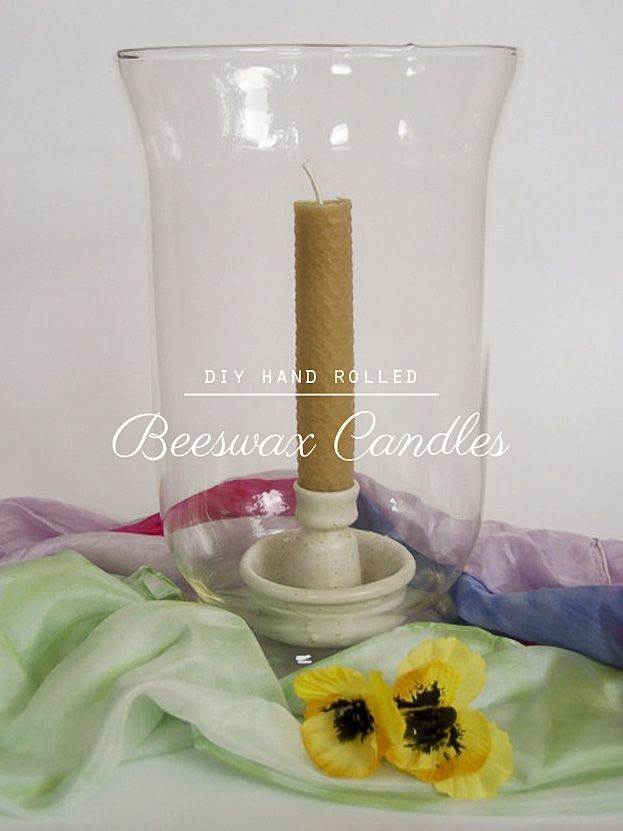 DIY Hand Rolled Beeswax Candles... Easy and rewarding for children!