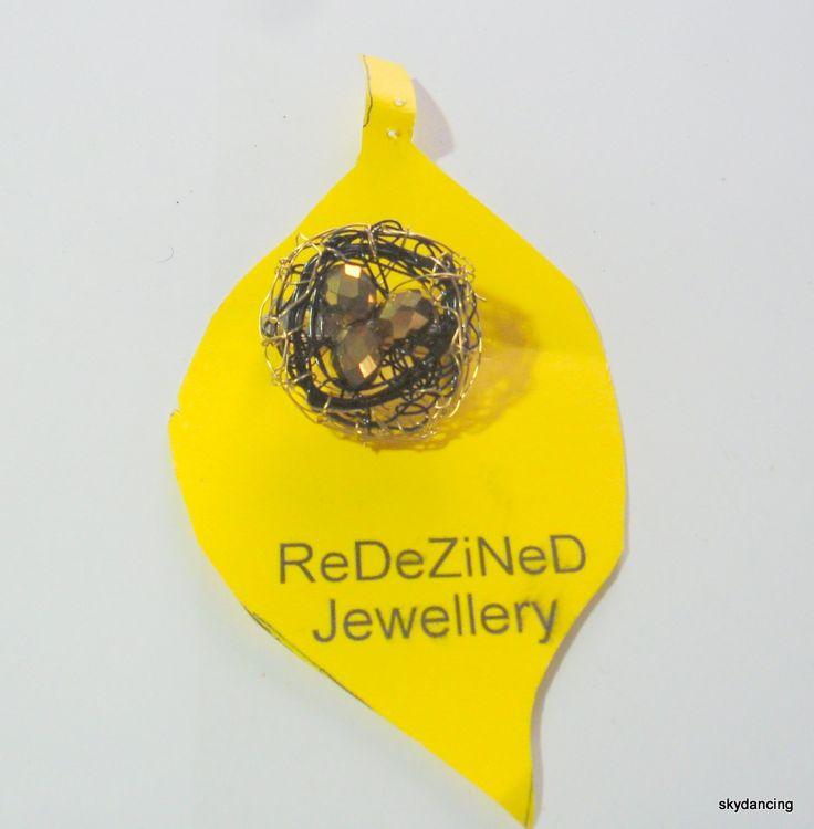 Cute little birds nest brooch.  $10.00 NZD