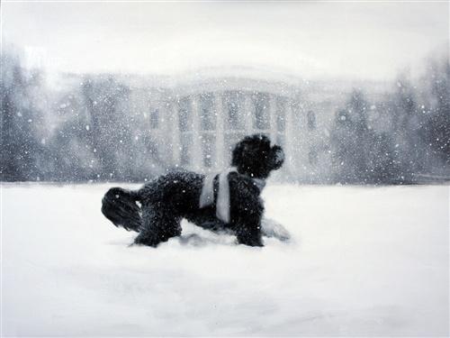 The 2012 White House holiday card stars Bo! (Courtesy Larassa Kabel)