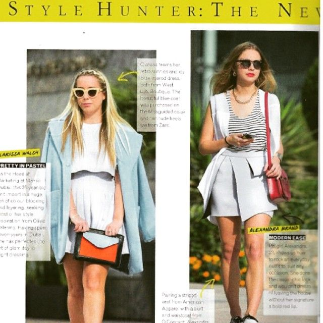 Our take me under skirt and vest spotted in Grazia Dubai.