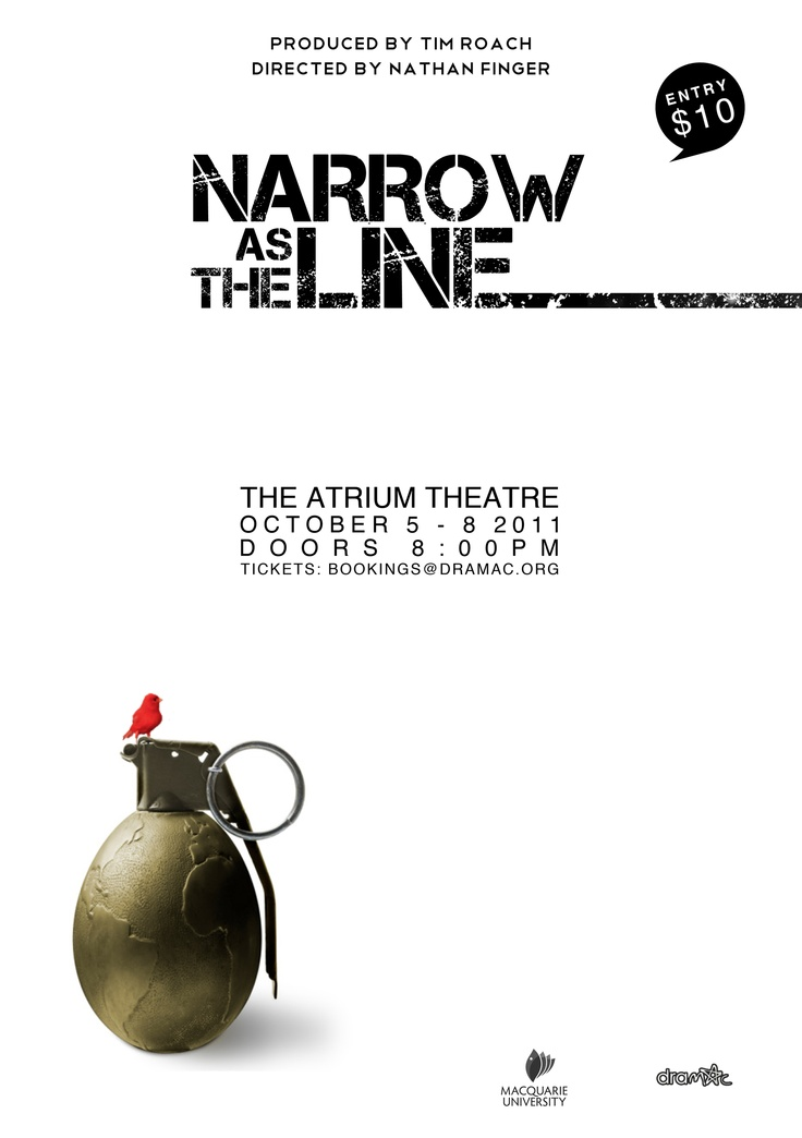 A poster I created for a friends play...