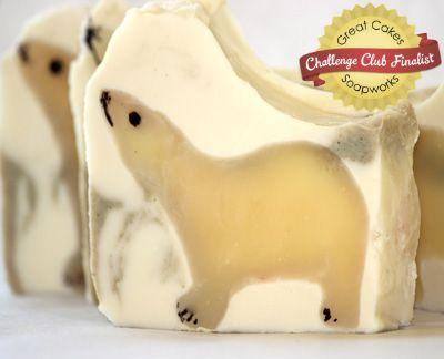 Polar Bear soap by Organza Soaps