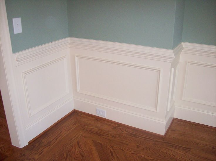 Illustration Of Wall Panel Adorned With Chair Rail From