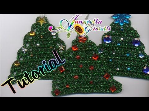 Tutorial Alberello di Natale all'Uncinetto   How to crochet a Christmas Tree Free Tutorial on Youtube