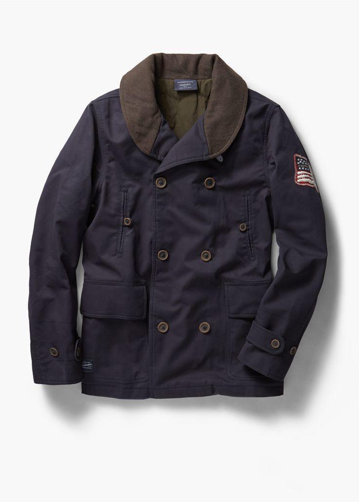 Cotton-blend canvas jacket   MANGO MAN