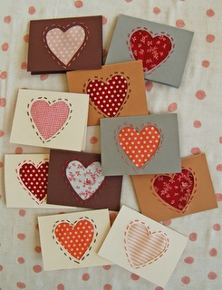 Simple sewing valentine