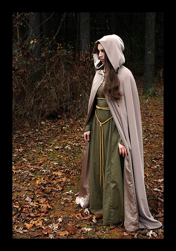 dress of the dryads. cloaks.