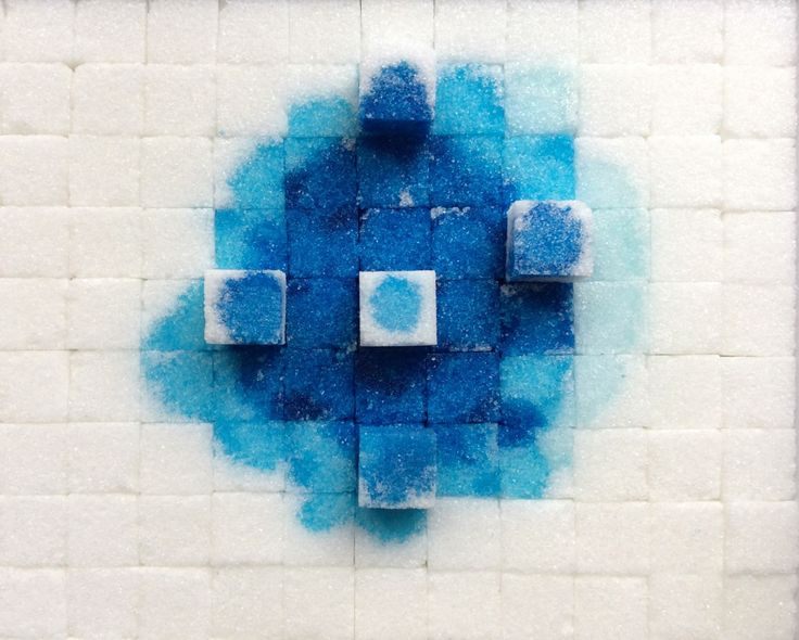 Kaushalia Khanna, ABSTRACT 1: Self standing sugar cubes, 18 x 21 cm  x 2 cm