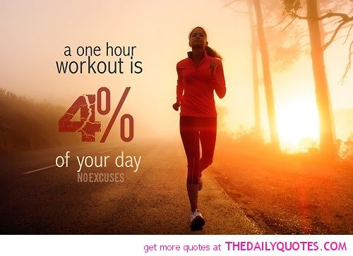 One hour workout it's 4% of your day