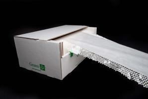 750' GreenWrap ExBox with white die-cut paper and white interleaf tissue
