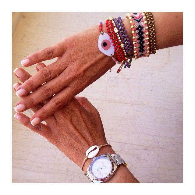 Never Ending Hand Style #Didadi #friendship_bracelets #arm_candy #evil_eye