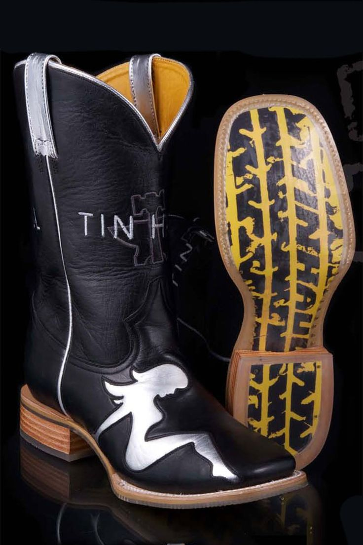 Tin Haul Men's Mudflap Girl Retread Cowboy Boots on sale @ HeadWest Outfitters!
