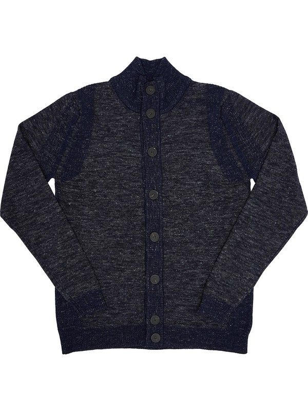 Blue knitted cardigan for men cashmere blend +39 Masq