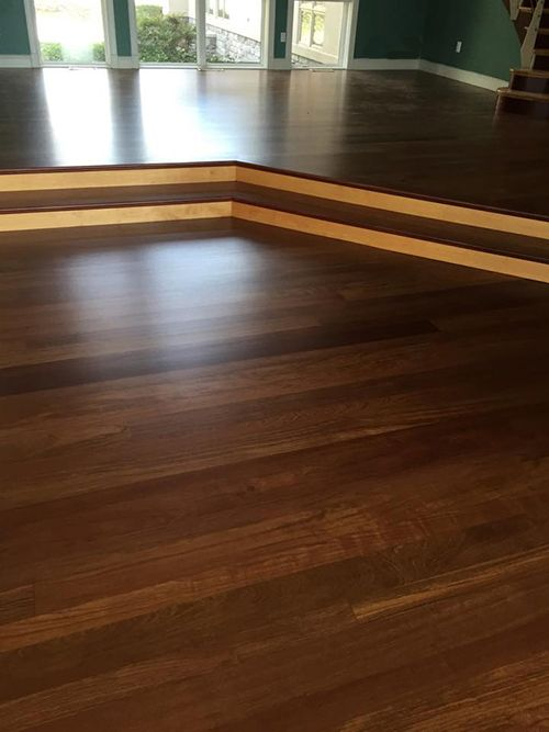 Exotic Brazilian Cherry Hardwood in Family Room Hardwood
