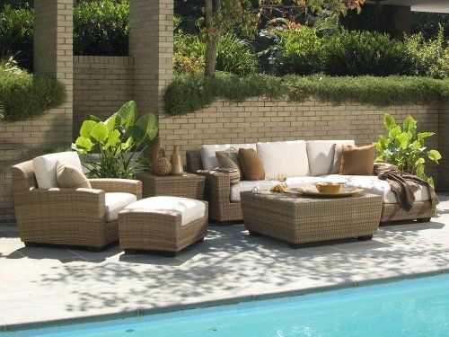 WhiteCraft Saddleback Wicker Large 6 Piece Conversation Package by WhiteCraft. $5793.25. Over 100 different cushion colors available for your selection. UV protected and cannot be damaged by rain, sun or salt water. 100% HDPE resin wicker will not crack, peel, or chip with UV inhibitors. Sturdy aluminum frames with powder coat finish. Environmentally friendly, non-toxic and 100% recyclable. Enjoy plenty of quality time outdoors with this weather-resistant collection. Saddleback