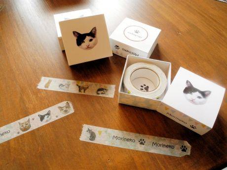 盛岡の保護型猫カフェ、オリジナルグッズに新商品 マスキングテープ人気に