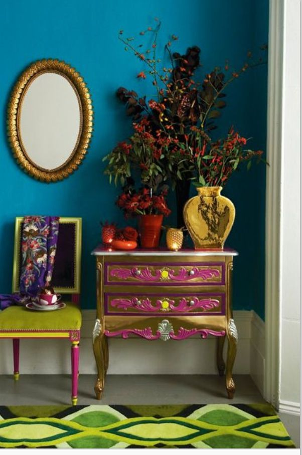 Colours do have the power of adding style to even simplest of the space. Don't you agree? #StyleYourSpace