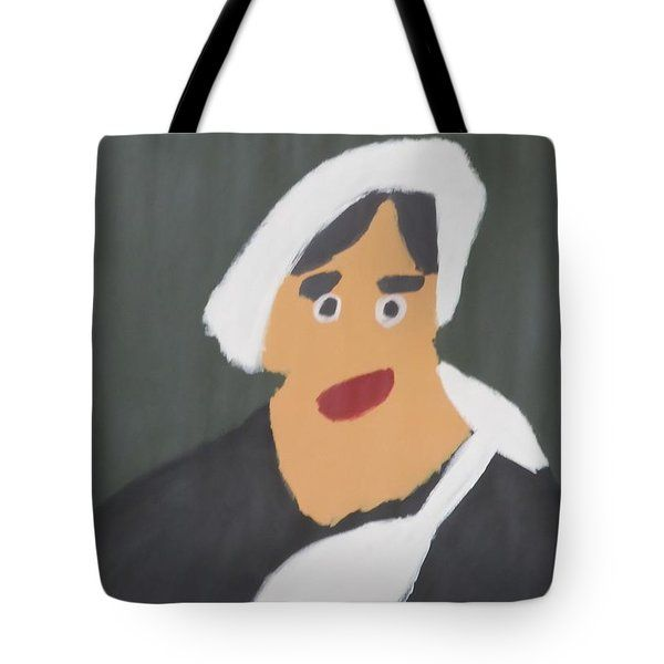 Patrick Francis - Tote Bag featuring the painting Portrait Of A Woman With White Cap 2015 - After Vincent Van Gogh by Patrick Francis