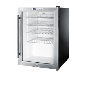 Summit Appliance, 2.5 cu. ft. Glass Door Mini Refrigerator in Black, SCR312L at The Home Depot - Mobile