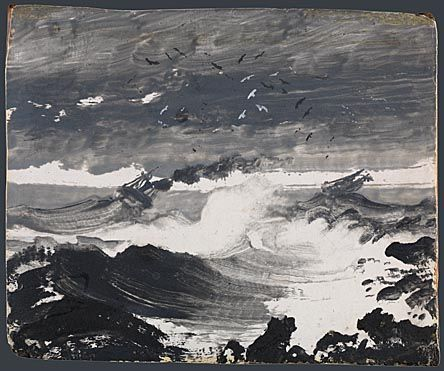 Peder Balke is among the most pioneering painters of 19th-century Scandinavia but despite the beauty and expressiveness of his seascapes, few today will recognise his name.  Peder Balke, The Tempest, about 1862