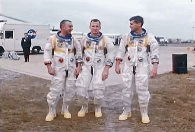 """You know, it's interesting how you can really get to know people and understand just exactly how they think and it is quite rewarding when you find out you both think quite a lot alike. This happens to be the case here."" – Ed White on the crew of Apollo 1"