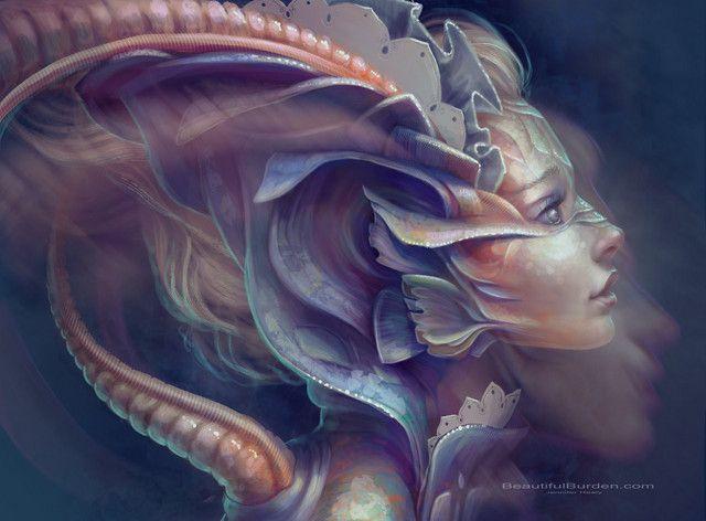 """Witness"" by Jennifer Healy   | MyAmbeon on http://Shadowness.com/myambeon #fantasy #concept #digital #painting #art"