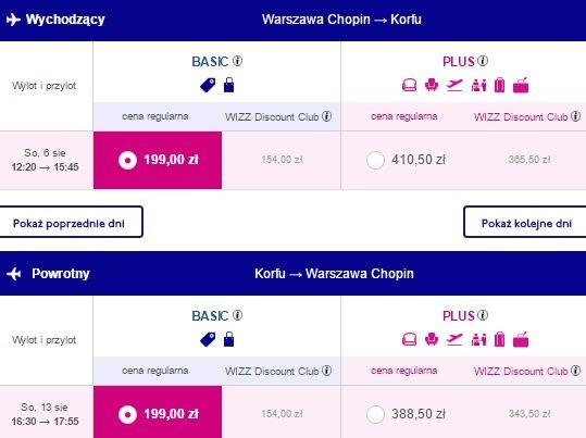Tanie przeloty do Grecji, Bilety na Korfu z Warszawy za 308 PLN | loter.pl