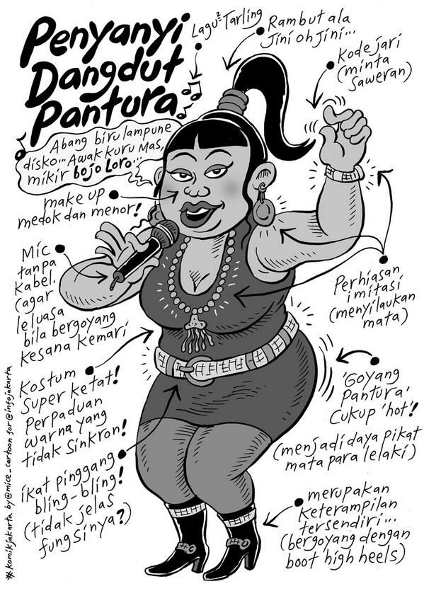 Penyanyi Dangdut Pantura #KomikJakarta @mice_cartoon