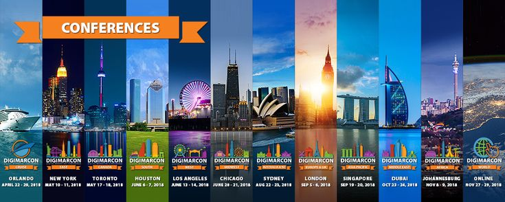 DigiMarCon Announces its Global Digital Marketing Conference Series Events for 2018!