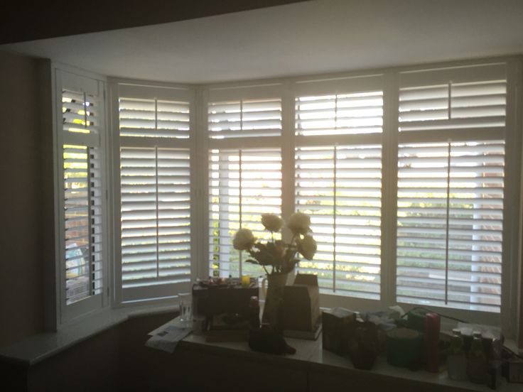 Shutters are so much nicer than net curtains. They've transformed the room
