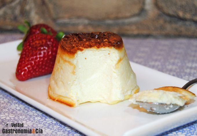 Tarta de queso light (con maicena, queso y huevos)