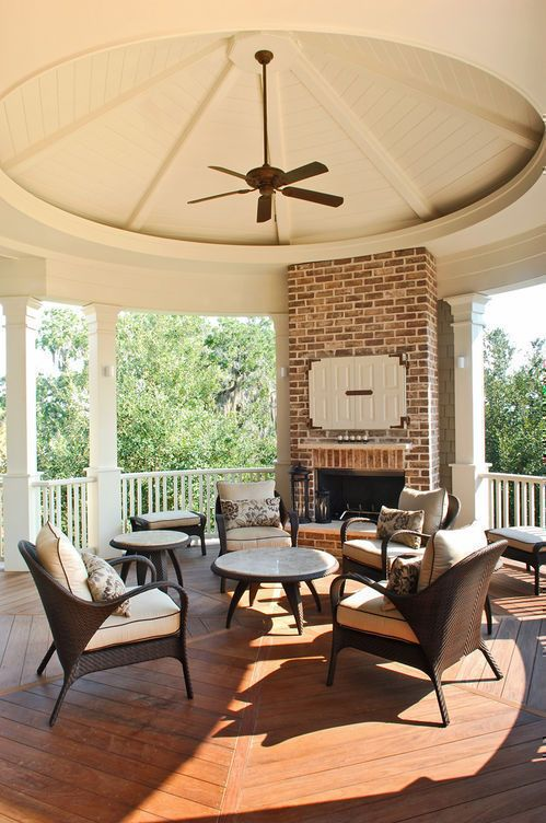 totally love the gazebo/deck/patio with fireplace!  Herlong & Associates :: Coastal Architects, Charleston, South Carolina
